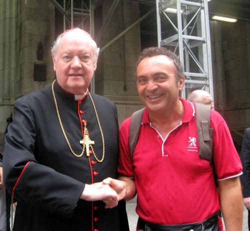 Con Cardinale Egan nel 2008