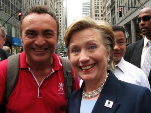 Con Hilary Clinton nel 2008