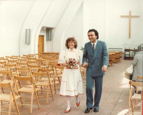 9 maggio 1982, matrimonio con Paola