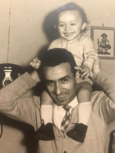 Adin con papà Arturo