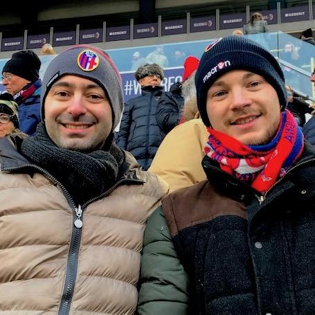 I ragazzi, Francesco e Luca, allo stadio