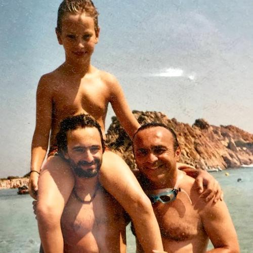 Con i miei figli, Francesco e Luca