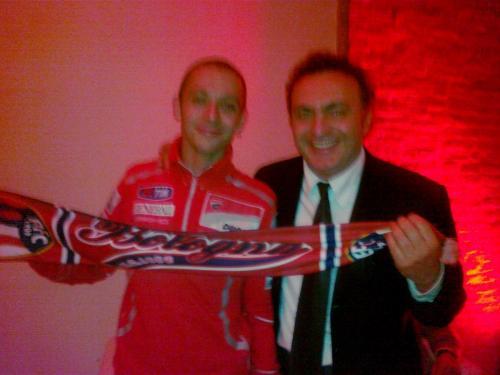 Con Valentino Rossi