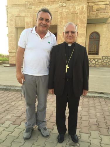 Con il Vescovo Copto Kirkuk