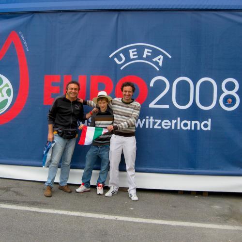 Europei 2008 con Francesco e Luca