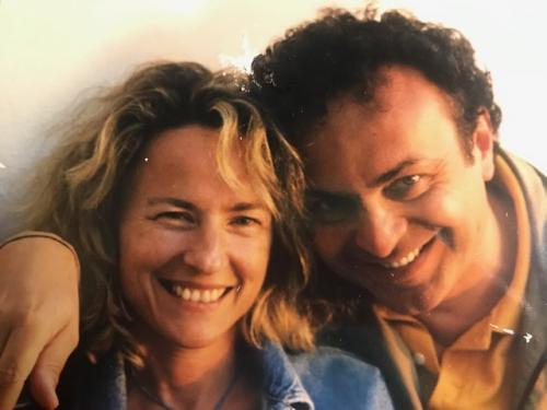 Con Paola a Miikonos