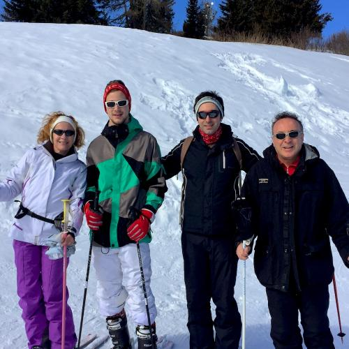 Sci con la famiglia