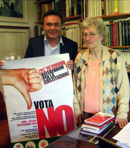 Con Tina Anselmi